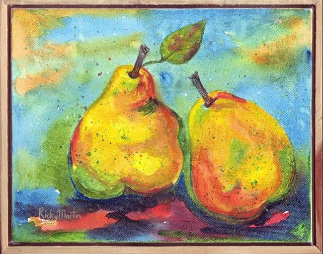 Art: Framed Pears  (available in my ebay store) by Artist Ulrike 'Ricky' Martin