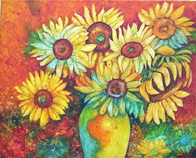 Art: Sunflower Bouquet - nfs by Artist Ulrike 'Ricky' Martin