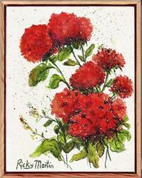 Art: Geraniums by Artist Ulrike 'Ricky' Martin