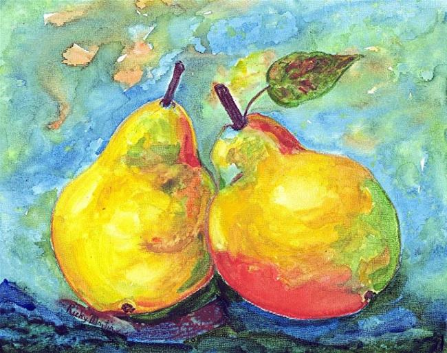 Art: Juicy Pair of Pears  - sold by Artist Ulrike 'Ricky' Martin