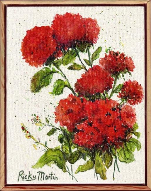 Art: Geraniums ( available in my ebay store) by Artist Ulrike 'Ricky' Martin