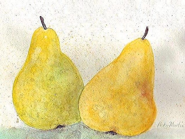 Art: Two  Pears  (sold) by Artist Ulrike 'Ricky' Martin