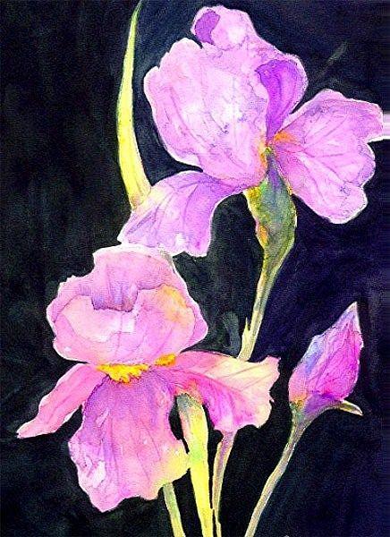 Art: Purple Iris by Artist Ulrike 'Ricky' Martin