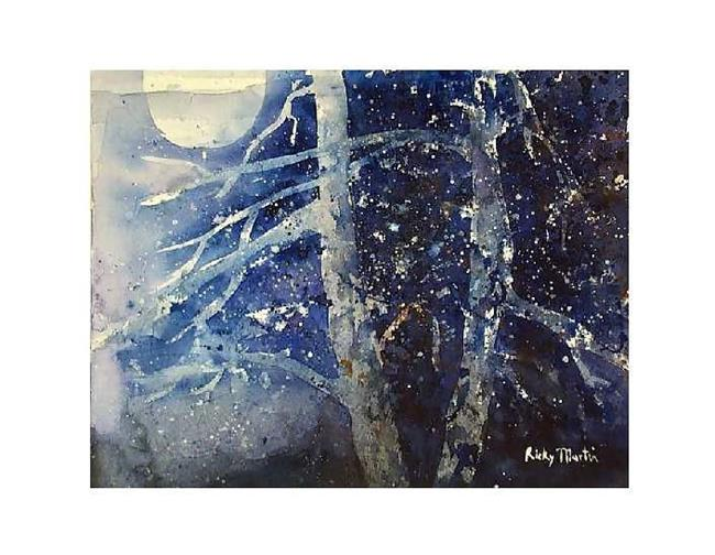Art: Winterwoods by Artist Ulrike 'Ricky' Martin