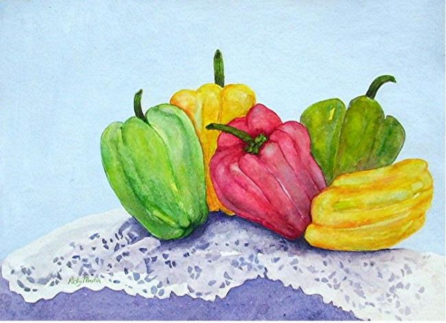 Art: Peppers Five by Artist Ulrike 'Ricky' Martin