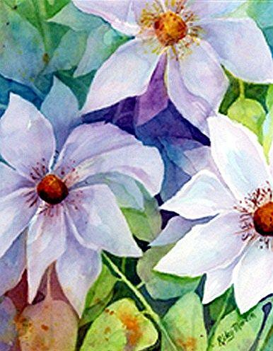Art: Daisies by Artist Ulrike 'Ricky' Martin