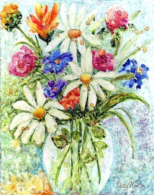 Art: Cheerful Bouquet - available in my etsy store by Artist Ulrike 'Ricky' Martin