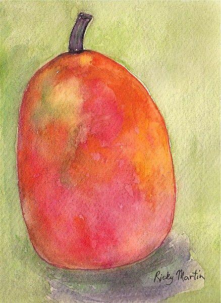 Art: Red Pear by Artist Ulrike 'Ricky' Martin