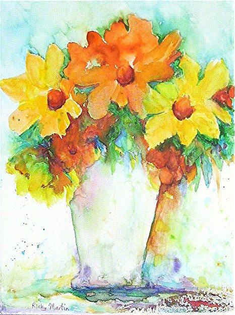Art: Fresh Flowers - available in my etsy store by Artist Ulrike 'Ricky' Martin