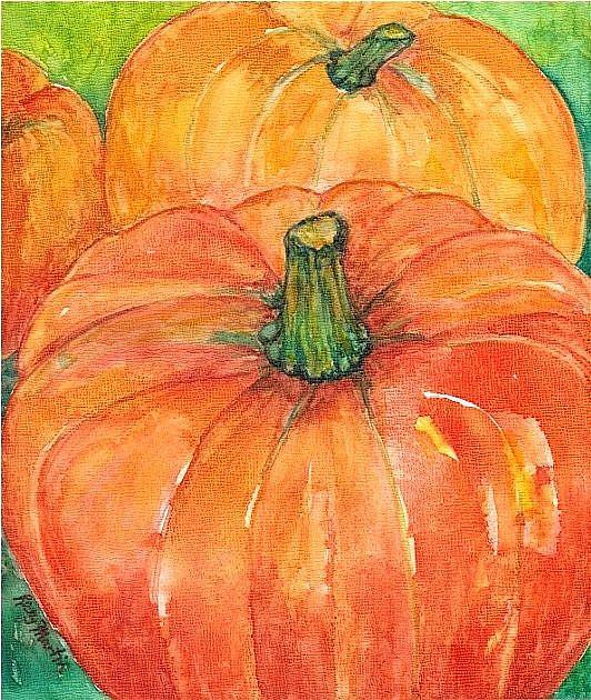 Art: Pumpkins - sold by Artist Ulrike 'Ricky' Martin