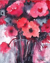 Art: Soft Abstract Floral Bouquet by Artist Ulrike 'Ricky' Martin