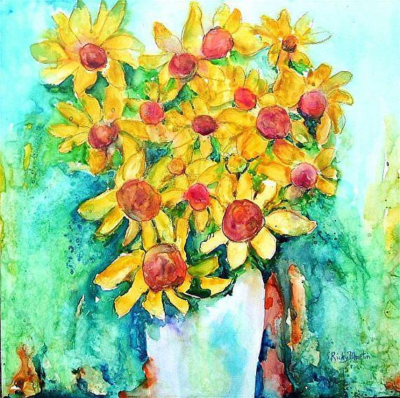 Art: Sunflowers - sold by Artist Ulrike 'Ricky' Martin