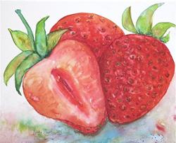 Art: Juicy Strawberries by Artist Ulrike 'Ricky' Martin