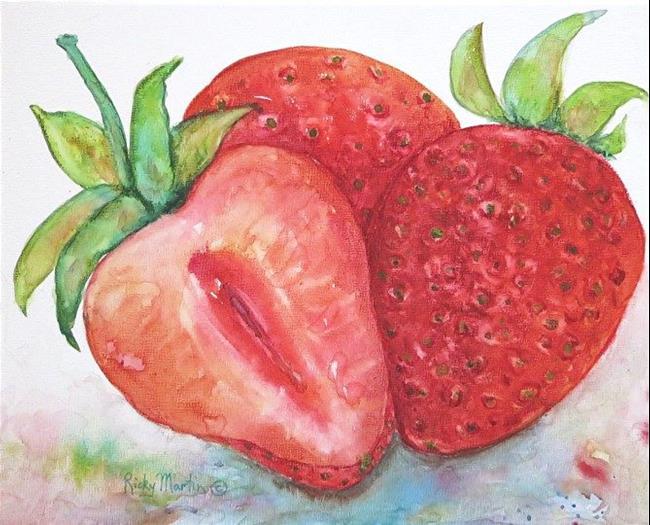 Art: Juicy Strawberries by Artist Ulrike 'Ricky' Martin