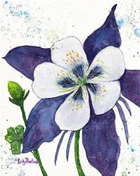 Art: Columbine - Colorado State Flower by Artist Ulrike 'Ricky' Martin