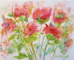 Art: Soft Floral Abstract by Artist Ulrike 'Ricky' Martin