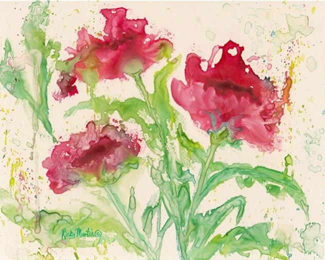 Art: Pink Abstract Floral by Artist Ulrike 'Ricky' Martin
