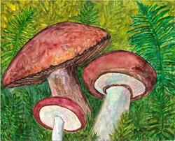 Art: Ferns and Mushrooms by Artist Ulrike 'Ricky' Martin