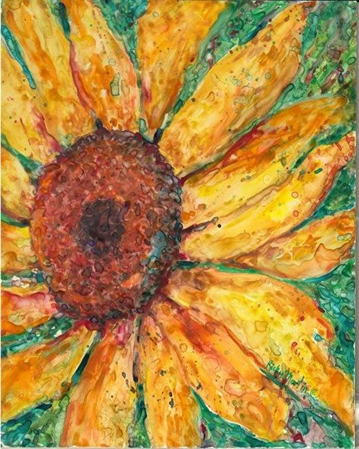 Art: Sunflower by Artist Ulrike 'Ricky' Martin
