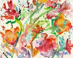 Art: Abstract Flowers # IV by Artist Ulrike 'Ricky' Martin