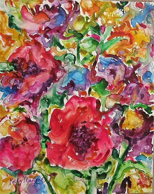 Art: Flower Abstract # V by Artist Ulrike 'Ricky' Martin