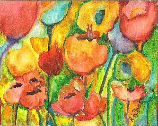 Art: Flower Abstract # 7 by Artist Ulrike 'Ricky' Martin