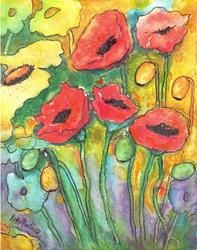 Art: Poppy Medley - sold by Artist Ulrike 'Ricky' Martin