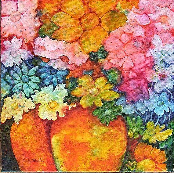 Art: Watercolor Bouquet - sold by Artist Ulrike 'Ricky' Martin