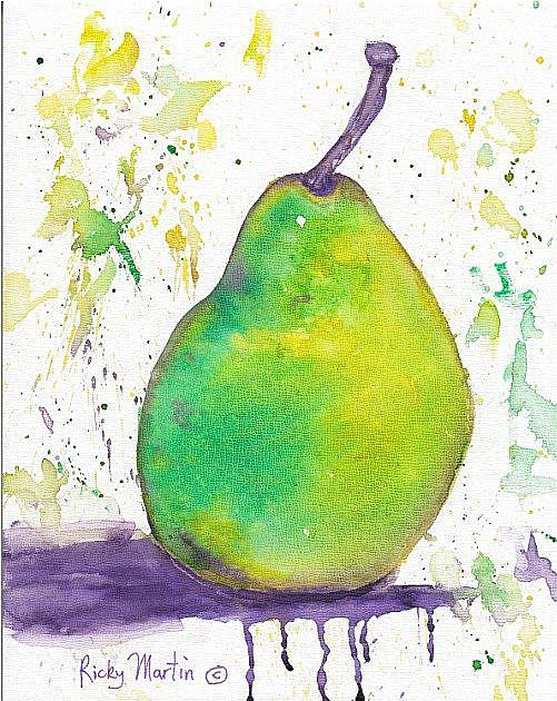 Art: Green Pear by Artist Ulrike 'Ricky' Martin
