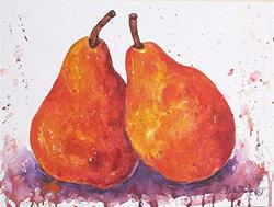 Art: Red Pears by Artist Ulrike 'Ricky' Martin