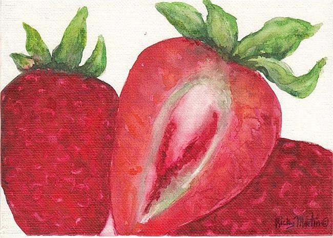 Art: Luscious Strawberries - sold by Artist Ulrike 'Ricky' Martin