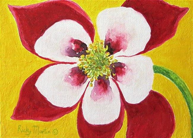 Art: Colorado Columbine - sold by Artist Ulrike 'Ricky' Martin