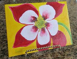 Detail Image for art Colorado Columbine - sold