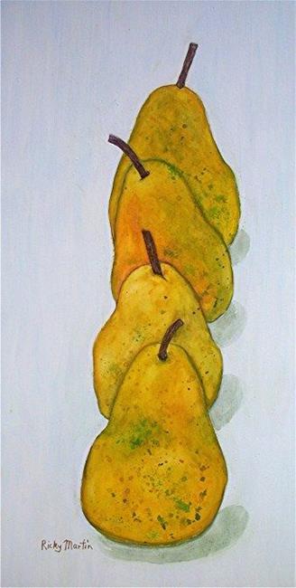 Art: 4 juicy pears by Artist Ulrike 'Ricky' Martin