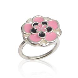Art: Pink Flower Ring by Artist Andree Chenier
