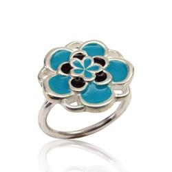 Art: Blue Cocktail Ring by Artist Andree Chenier