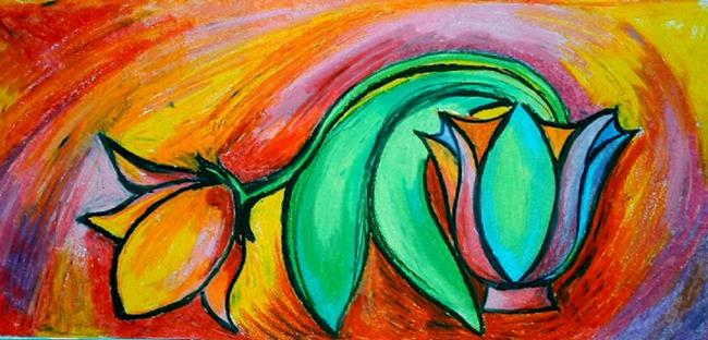 Art: Ophelia the Tulip by Artist Chris Jeanguenat