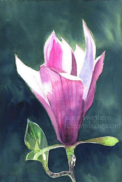 Art: Magnolia Glow SOLD by Artist Karen Winters