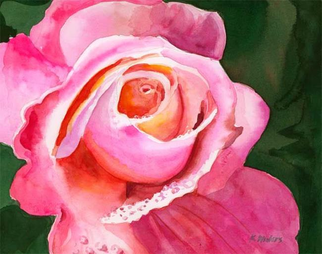 Art: Radiant Rose by Artist Karen Winters