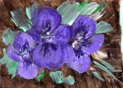 Art: Violets-Signs of Spring by Artist L. M. McCurdy
