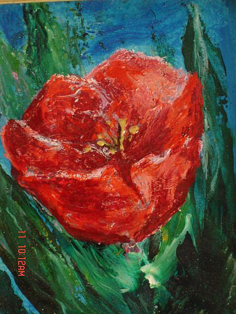 Art: Tulip in Flame by Artist L. M. McCurdy