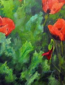 Detail Image for art Poppies and Canterbury Bells