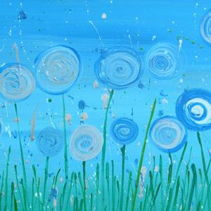 Detail Image for art Abstract Flowers - Blue