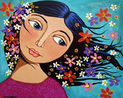 Art: ROSY CHEEKS by Artist Cindy Bontempo (GOSHRIN)