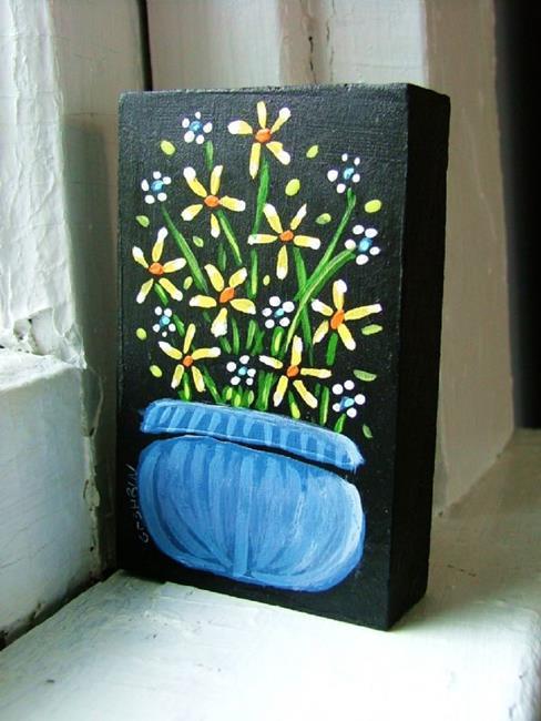 Art: Little Blue by Artist Cindy Bontempo (GOSHRIN)