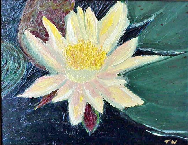 Art: Water Lily SOLD by Artist Terri L West