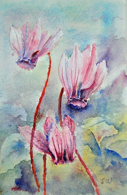 Art: Wild cyclamen by Artist John Wright