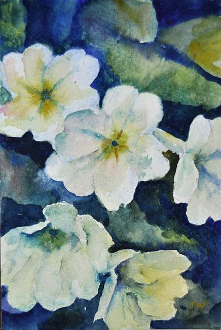 Art: Primroses by Artist John Wright