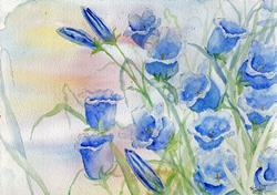 Art: Canterbury bells by Artist John Wright