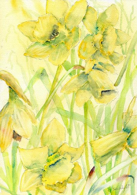 Art: Daffodils by Artist John Wright